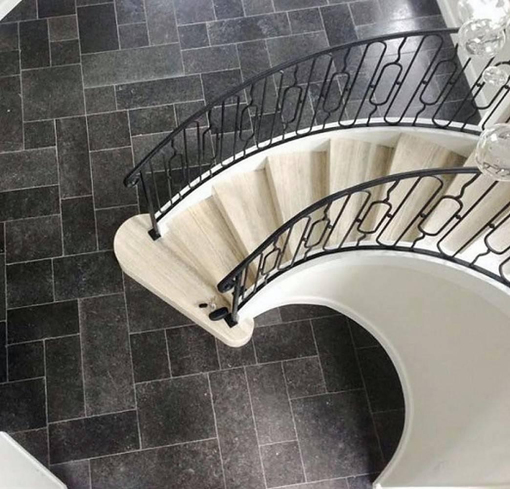 Black stone flooring