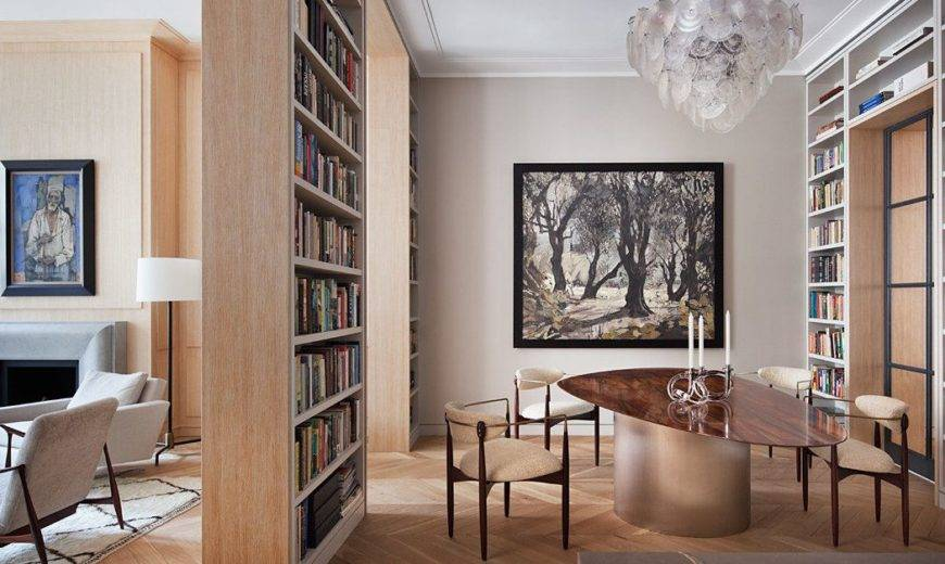 Books, Art and a dazzling Hallway of Mirrors: Contemporary Tribeca Residence