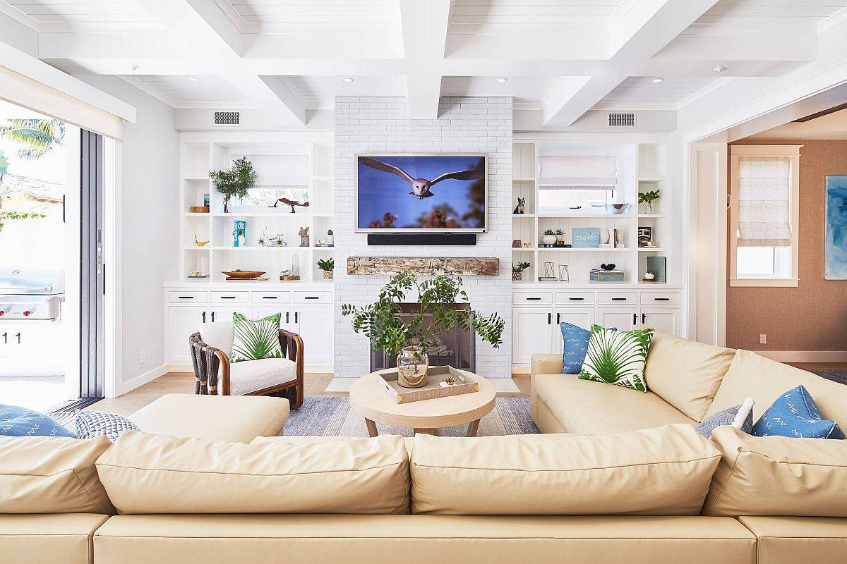 Brilliant-modern-farmhouse-style-family-room-in-white-with-smart-blue-accents-80362