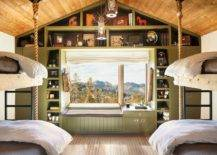 Comfortable-and-spacious-cabin-style-kids-bedroom-in-wood-and-light-green-35103-217x155