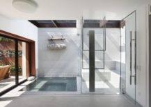Concrete Sunken Bathtub.