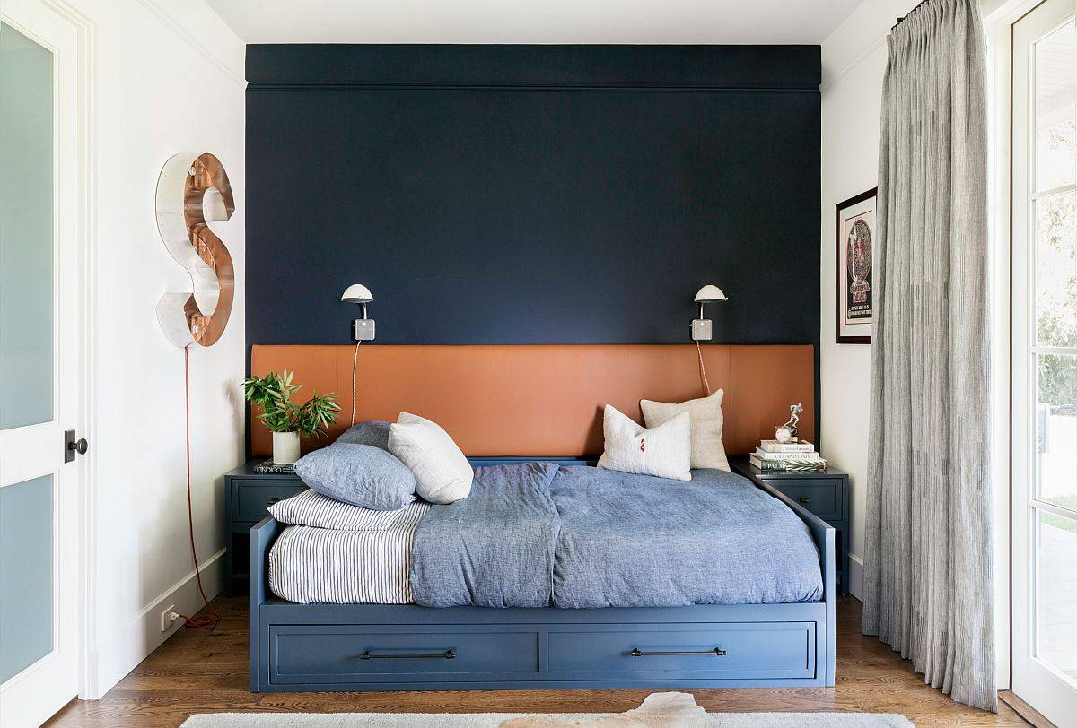 Contemporary-kids-room-with-sophisticated-blend-of-black-and-orange-in-the-backdrop-74584