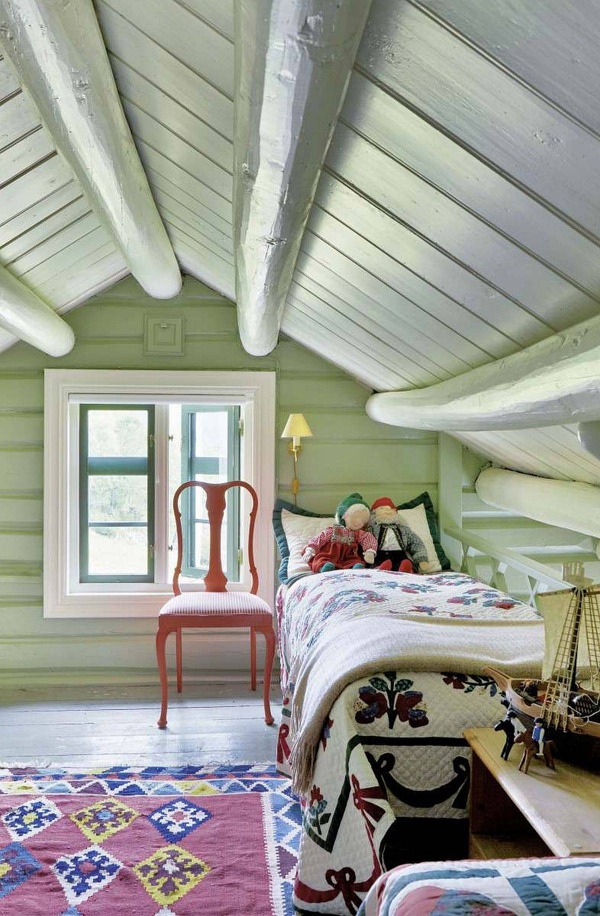 Cozy-attic-kids-bedroom-with-paste-green-in-the-backdrop-97842