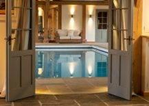 Door opening to swimming pool