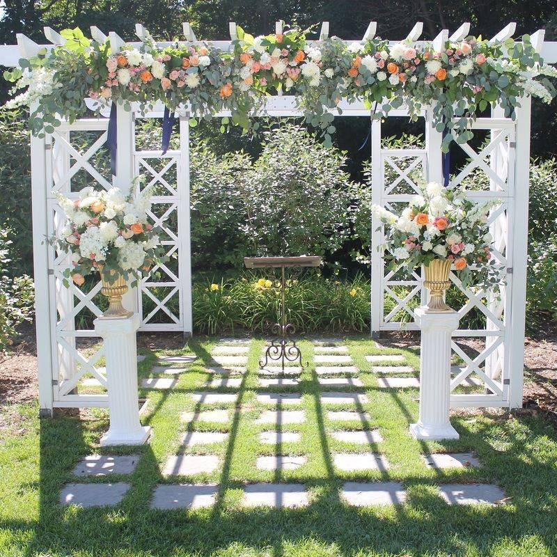 Floral Wedding Decor Pergola