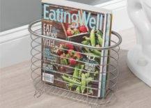 Freestanding Bathroom Magazine Holder.