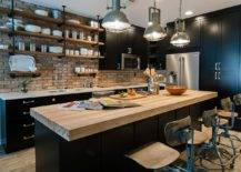 Gorgeou-industrial-kitchen-with-brick-walls-wooden-counterops-and-dark-cabinets-34377-217x155