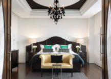 Gothic Bedroom with Large Chandelier