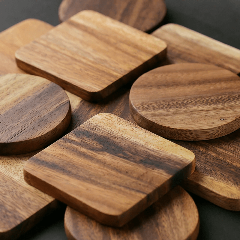 Hardwood Coasters for your Drink and Pans