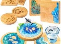 Hardwood Coasters for your Drink and Pans.