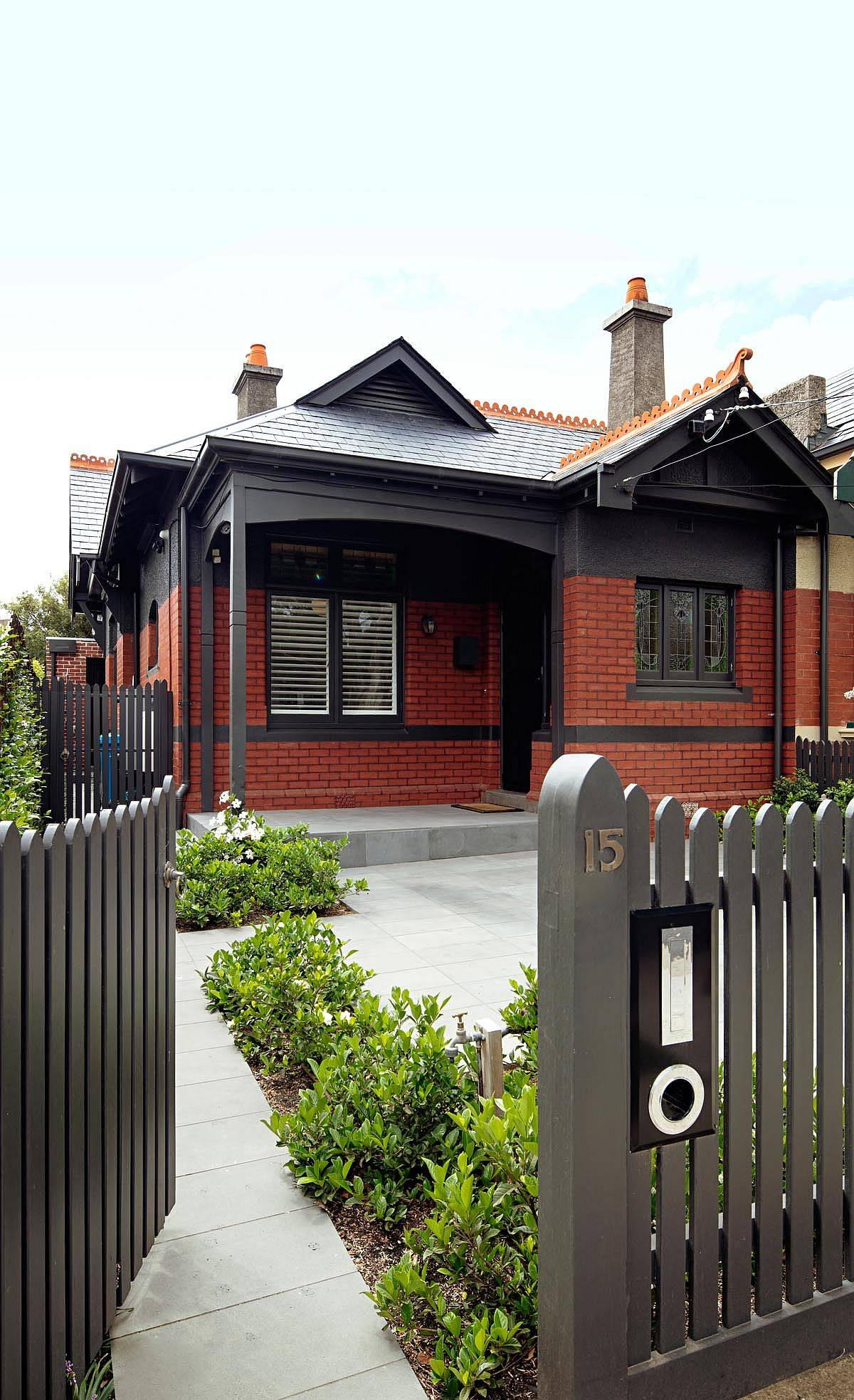 Heritage street facade of the Melbourne home has been left untouched during the makeover