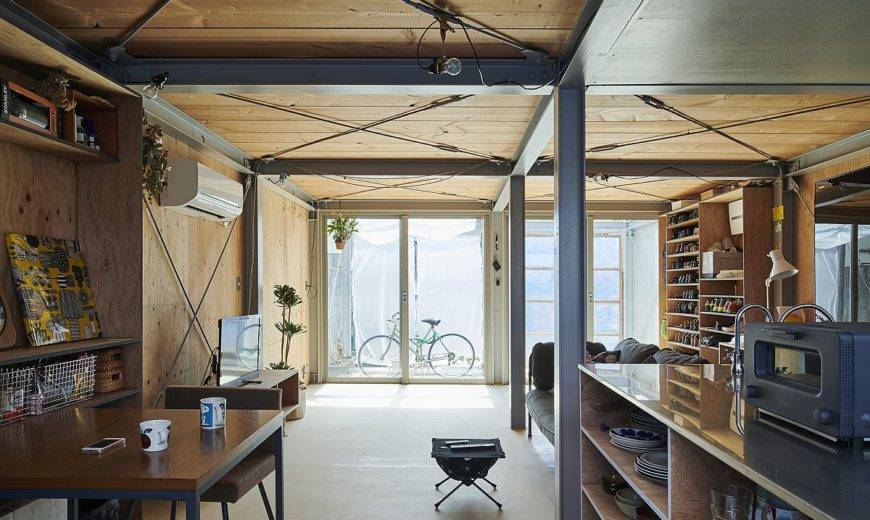 Where Walls are Just Arbitrary: Adaptable Japanese Home with Metallic Frame