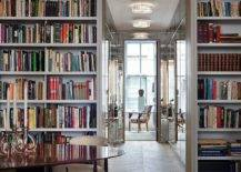 Lighting-mirrors-and-the-floor-to-ceiling-bookshelves-create-a-dramatic-New-York-home-40379-217x155