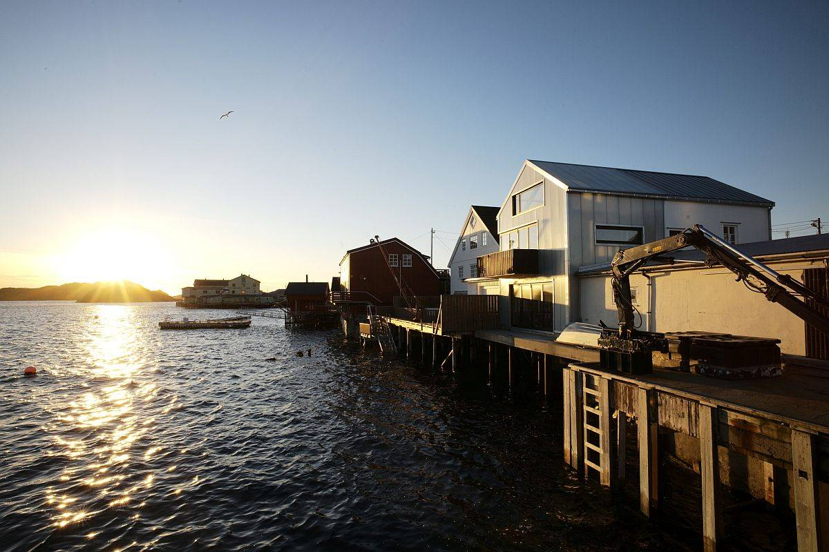 Lovely views of the harbor and the fishing village from the home make the biggest impression