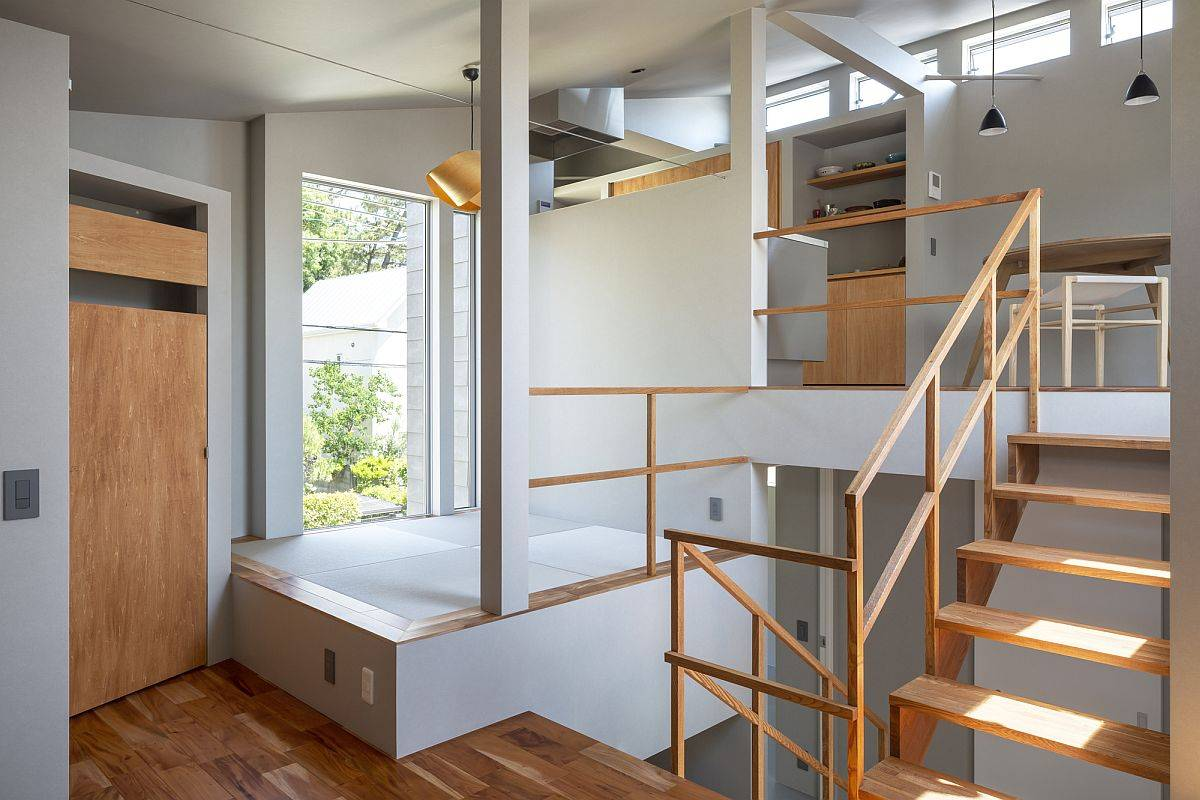 Making most of space inside the small Japanese home with custom reading nooks that offer storage
