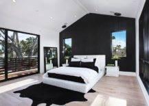 Minimalist Space with Black Cowhide Rug