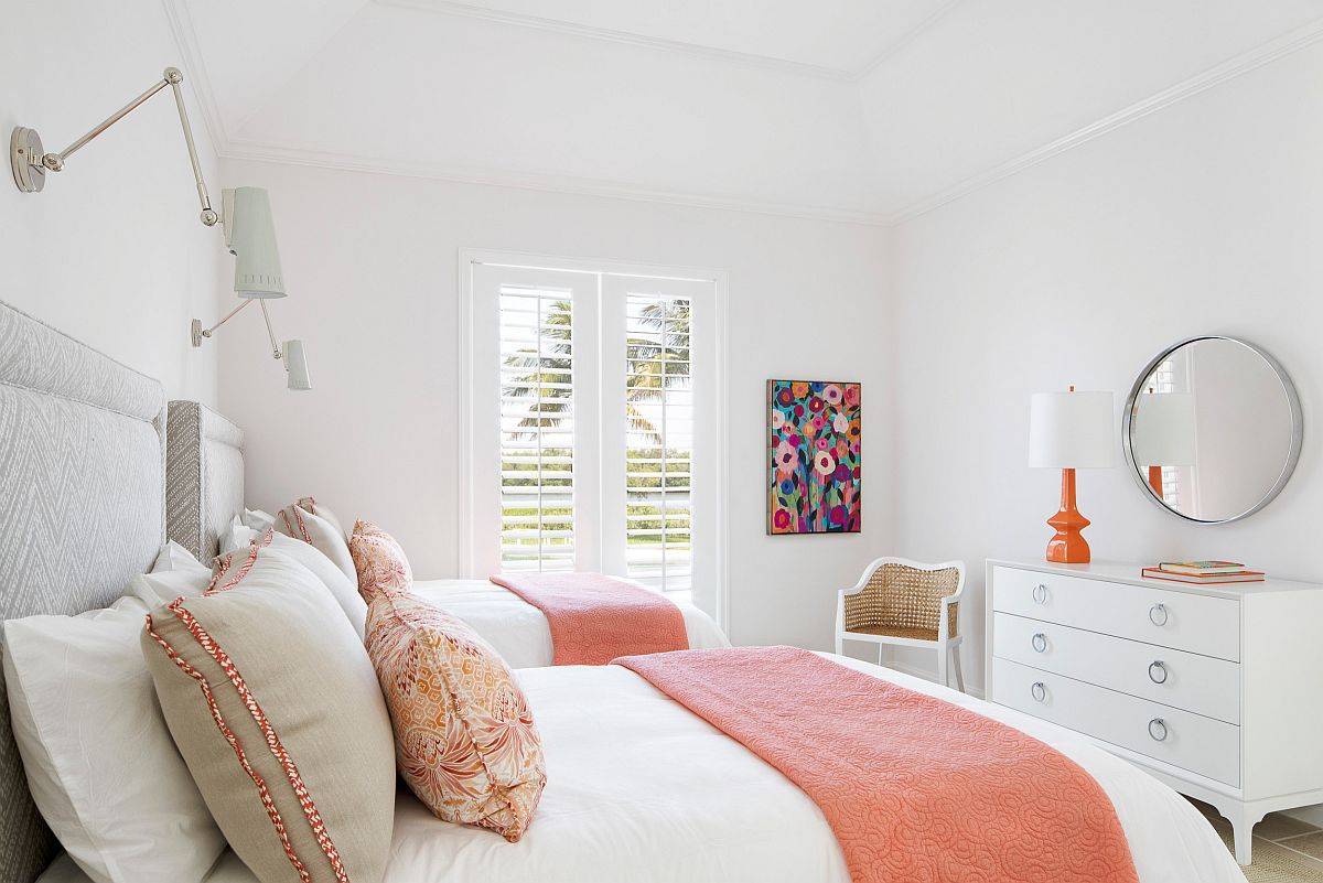 Modern-kids-bedroom-in-white-with-relaxing-pops-of-light-coral-72088