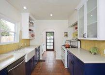 Modern-white-kitchen-with-yellow-tiled-backsplash-and-bright-blue-cabinets-12813-217x155