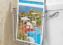 Over-the-Tank Bathroom Magazine Holder