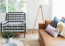 Patterned Furniture with Cowhide Rug
