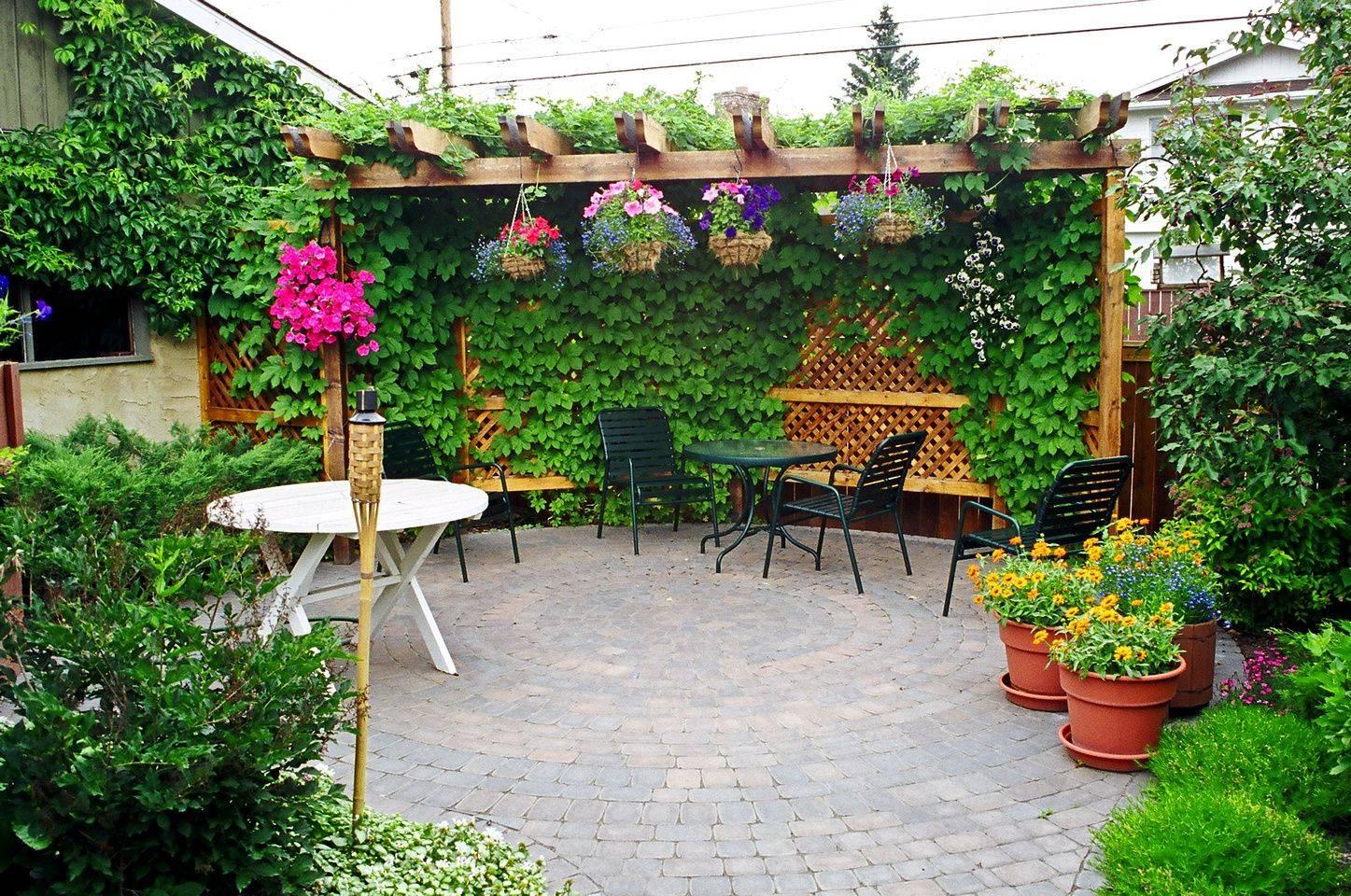 Pergola with Potted Plants Decor