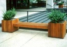 Planter Box Inside bench.
