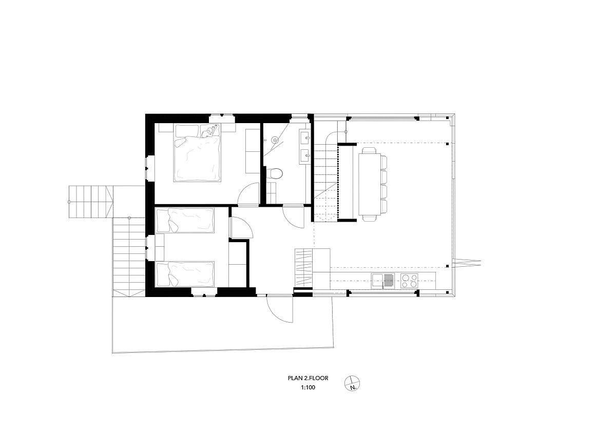 Second-floor-plan-of-the-mdoern-revamped-home-in-Norway-82605