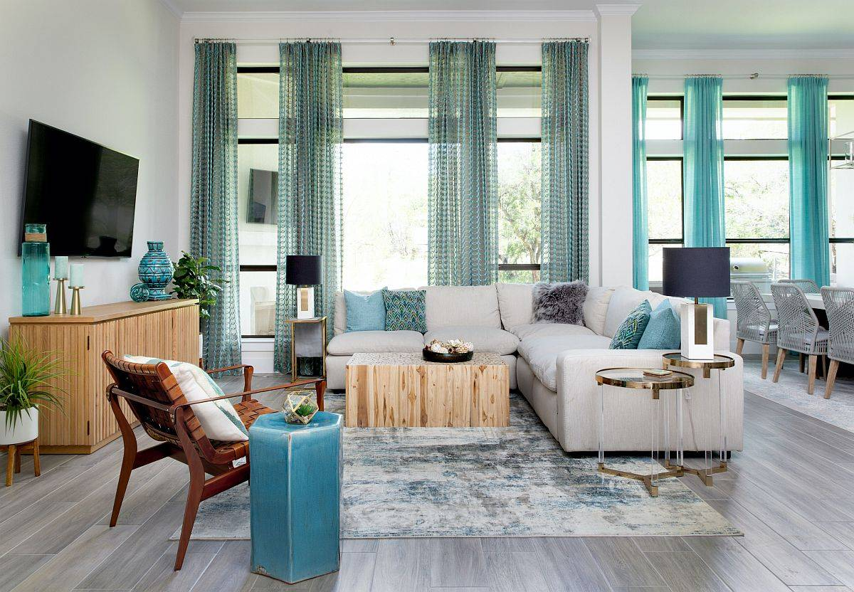 Spacious-wood-and-white-family-room-with-blue-accents-all-around-10298