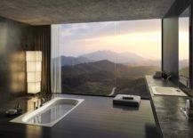 Sunken Bathtub With Mountain View