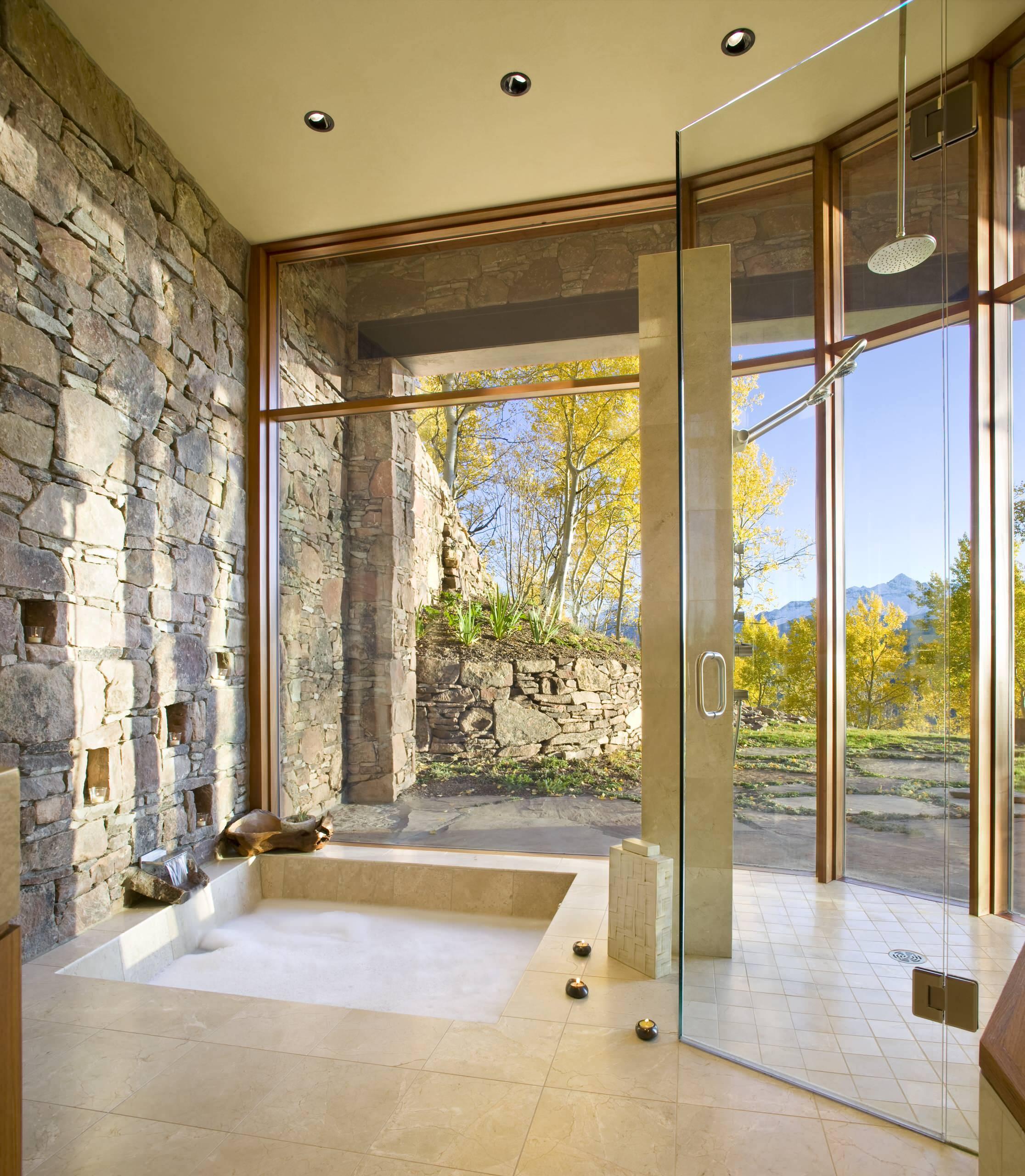 Sunken Bathtub With a View
