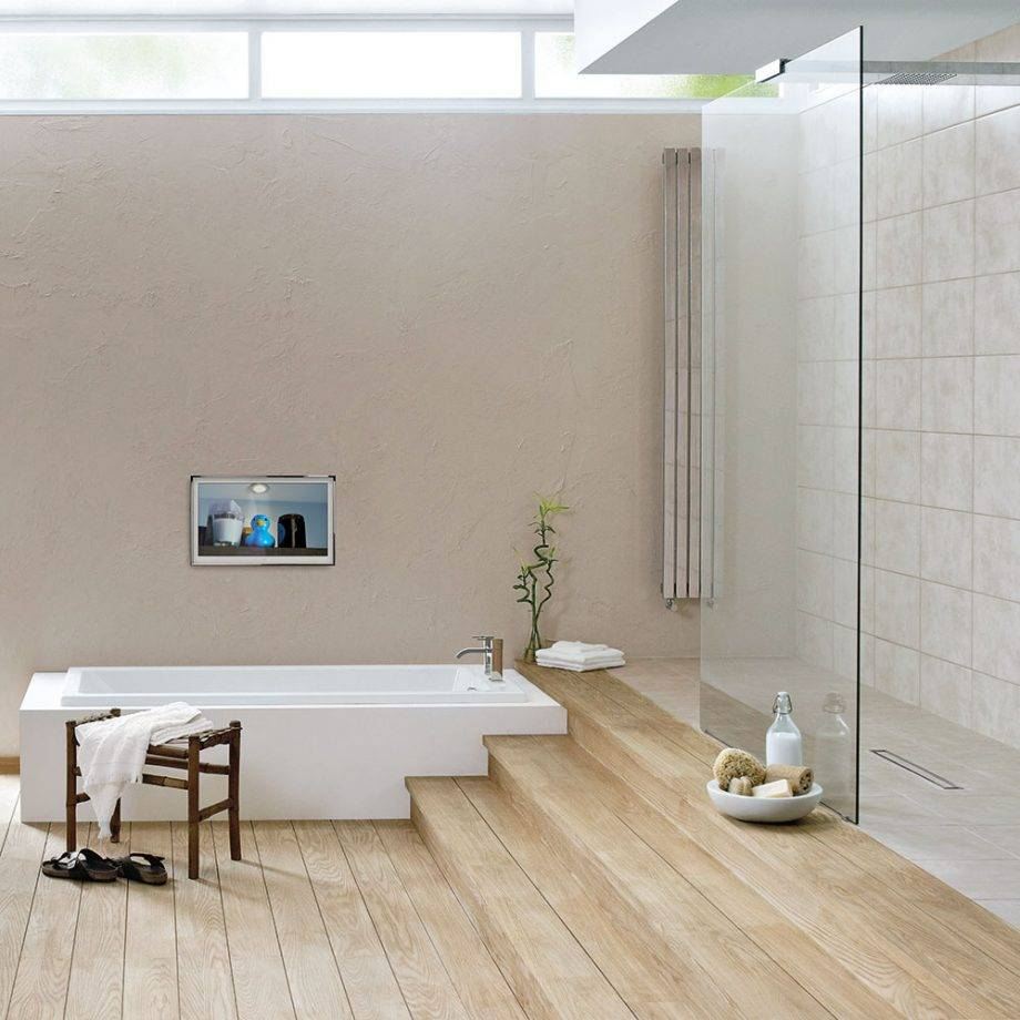 Sunken Bathtub and Shower Space Combined