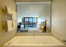 Sunken Bathtub in Bedroom