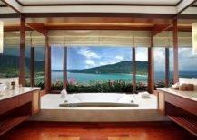 Sunken Concrete Bathtub With Sea View