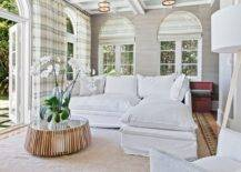 Textured-gray-walls-along-with-white-sofa-and-plaid-curtains-in-the-cheerful-family-room-41200-217x155