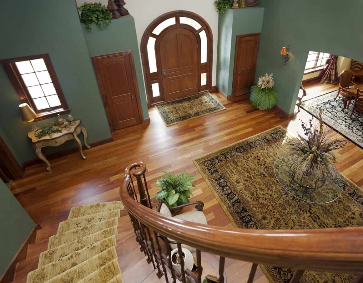 Top view of foyer
