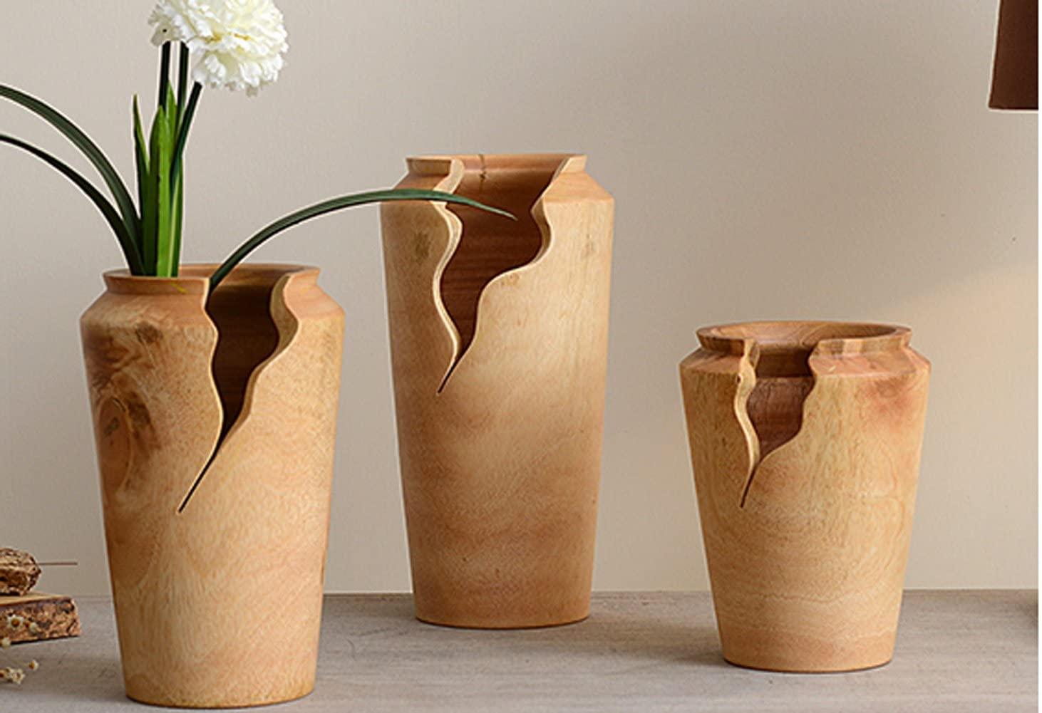 Wooden Flower Vase.