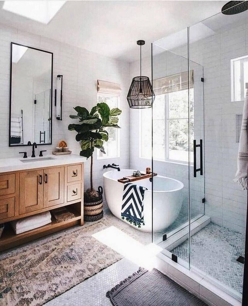 Boho Master Bathroom
