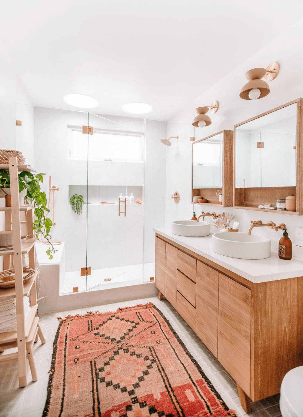 Boho Master Bathroom.
