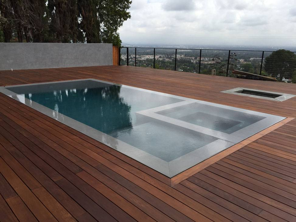Concrete and Wood Deck