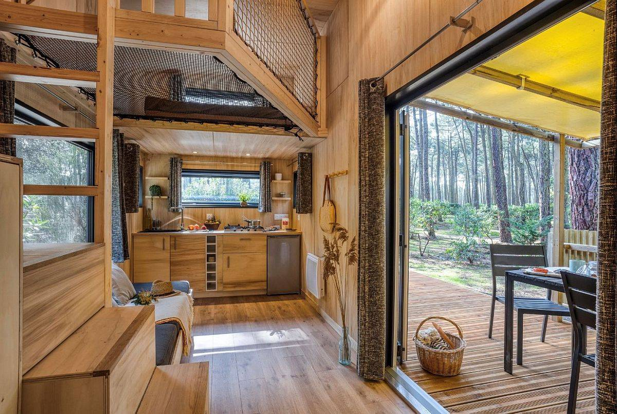 30-Square Meter Tiny House in Forest with Space-Savvy, Woodsy Panache