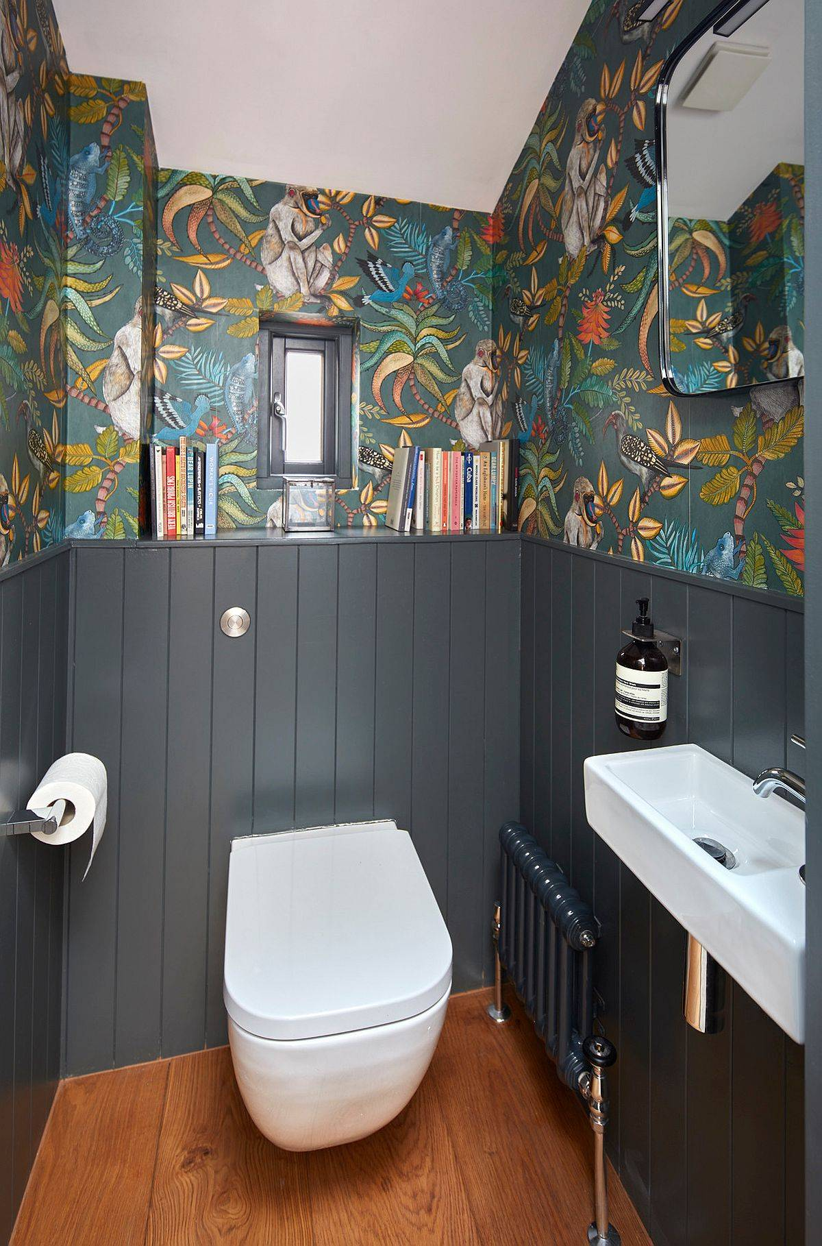 Dash-of-Gray-panache-meets-colorful-wall-art-in-this-tiny-eclectic-powder-room-88314