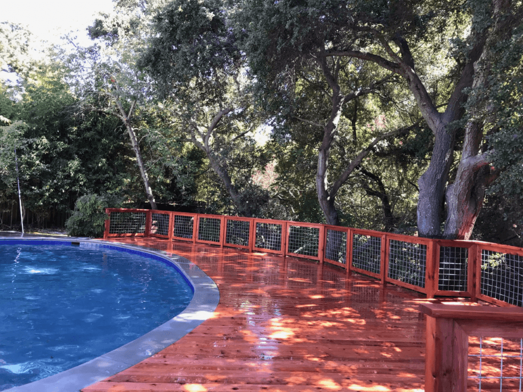 Deck Made from Redwood