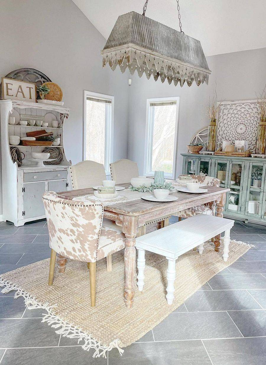 Eclectic Dining Area