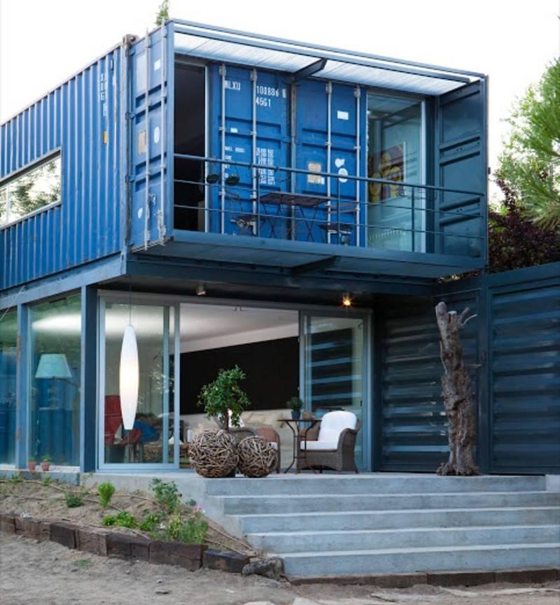 el tiemblo two story container home