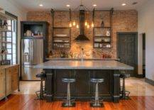 Fabulous-kitchen-remodel-with-red-brick-backsplash-industrial-style-concrete-countertops-and-gorgeous-chandelier-lighting-35182-217x155