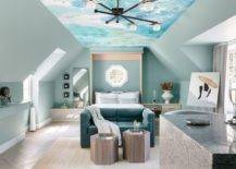Fabulous-wallpapered-ceiling-that-mimics-the-sky-brings-color-and-pattern-to-this-tiny-loft-bedroom-11157-217x155