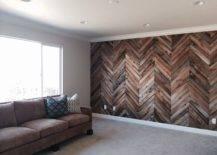 Herringbone Accent Wall.
