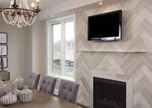 Herringbone Fireplace Surround.