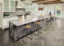 Herringbone Kitchen Floor