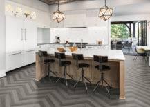 Herringbone Kitchen Floor.